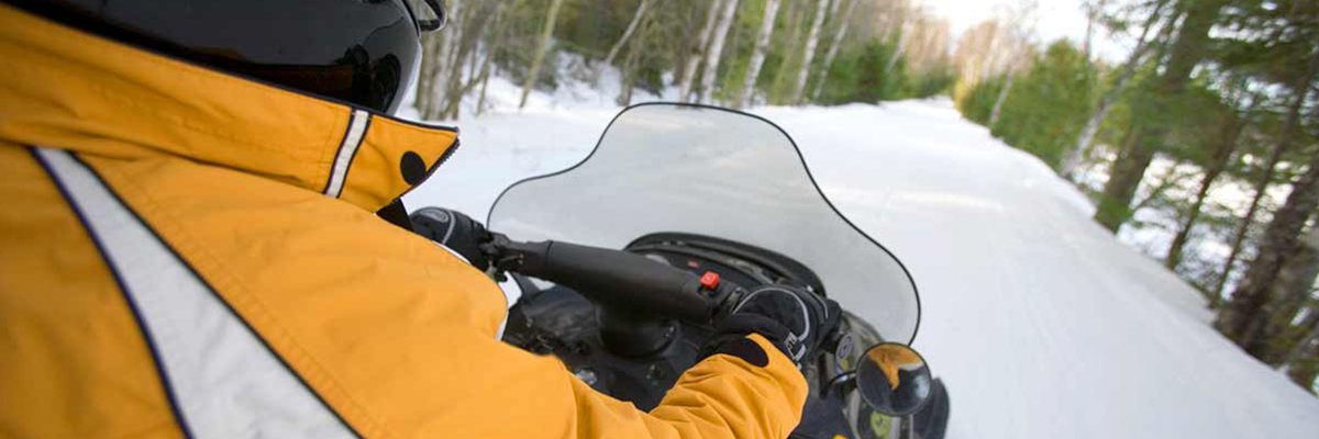 Person on snowmobile