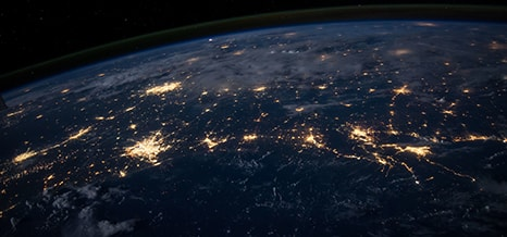World with light of connectivity