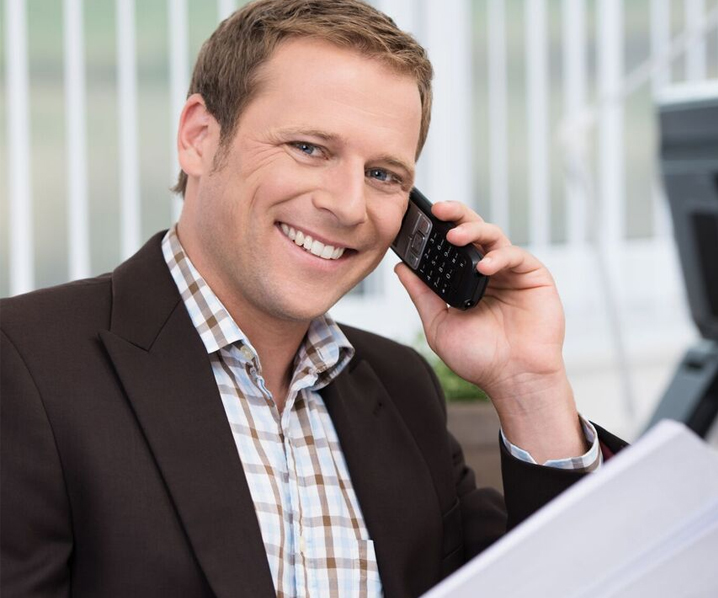 Image of businessman speaking on the phone